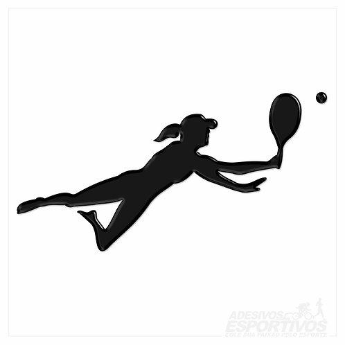 Adesivo Emblema Beach Tennis - Feminino