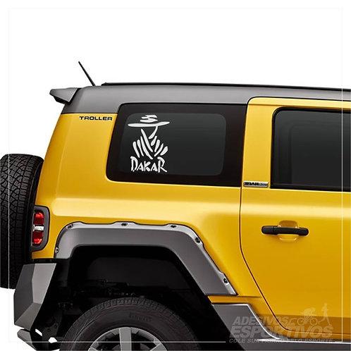 Adesivo Emblema Dakar América Do Sul Resinado 3D
