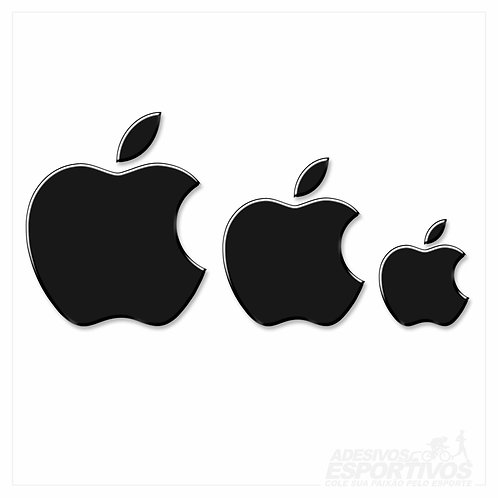 Adesivo Emblema Logo Maçã da Apple Mac