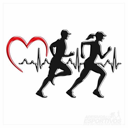 Adesivo Emblema Casal Batimentos Cardíacos