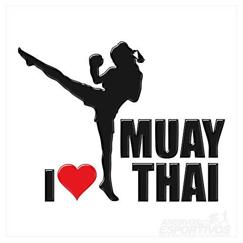 Adesivo Emblema Muay Thai - Feminino