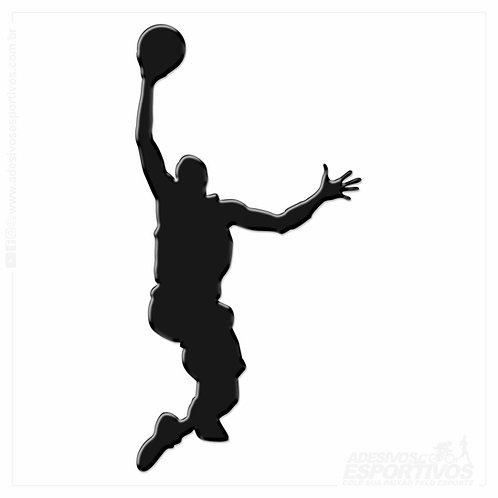 Adesivo Emblema Basquete Michael Jordan  Jump Resinado 3D