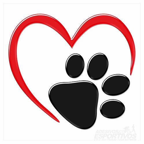 Adesivo Emblema Eu Amo Meu Pet