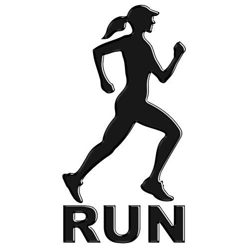 Adesivo Emblema Corredora Run