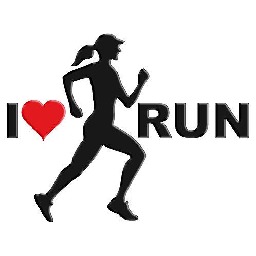 Adesivo Emblema Corredora Eu Amo Run