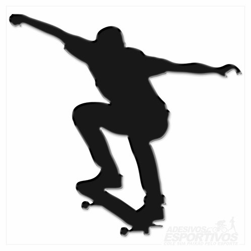Adesivo Emblema Skate Ollie