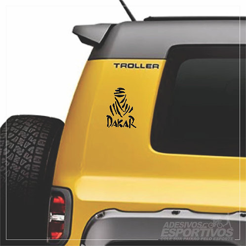 Adesivo Emblema Paris Dakar Resinado 3D