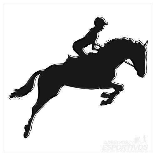 Adesivo Emblema Hipismo Equitação