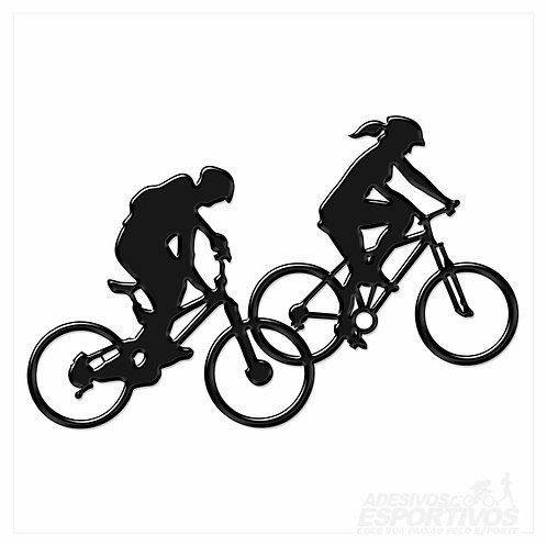 Adesivo Emblema Bike Casal MTB Resinado 3D
