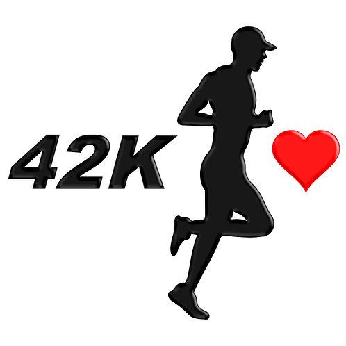 Adesivo Emblema Corredor Eu Amo Maratona
