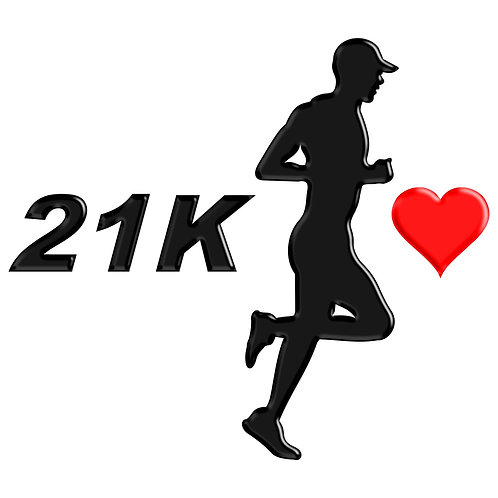 Adesivo Emblema Corredor Eu Amo Meia Maratona