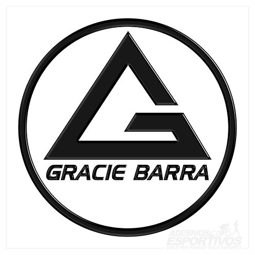 Adesivo Emblema Gracie Barra Jiu Jitsu