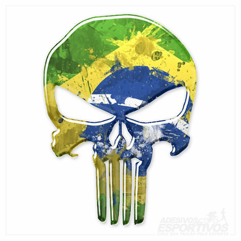 Adesivo Emblema Fantasma Caveira Punisher Skull