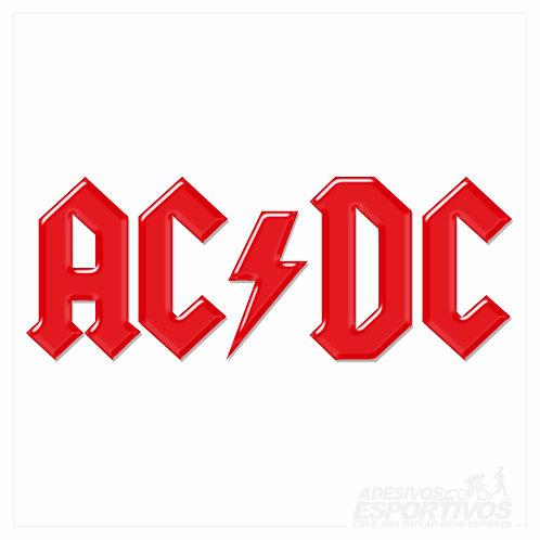 Adesivo Emblema AC/DC