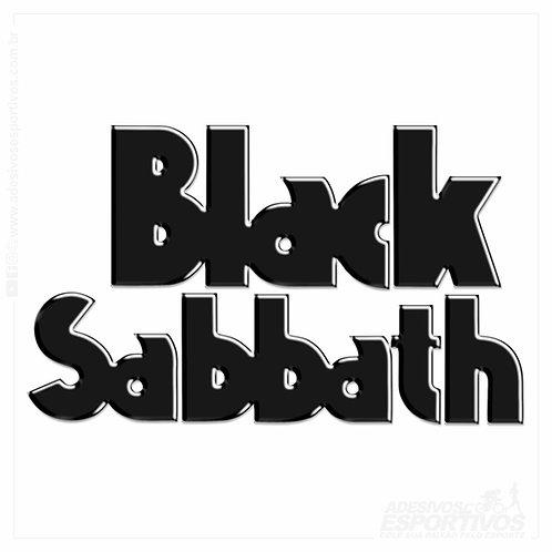 Adesivo Emblema Black Sabbath Vol4 Resinado 3D