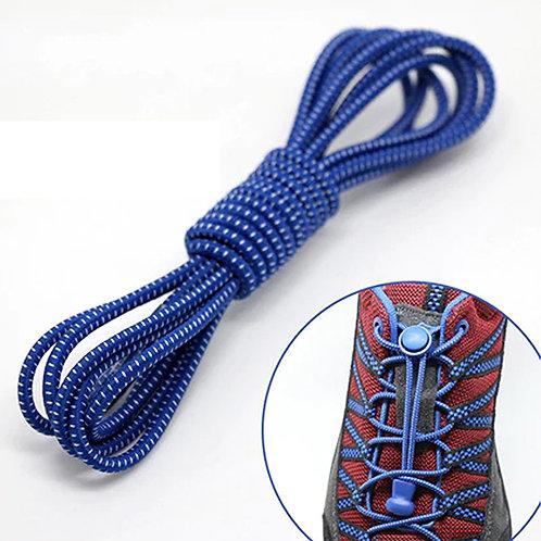 Cadarço de Elástico - Azul Royal c/branco