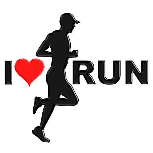 Adesivo Emblema Corredor Eu amo Run
