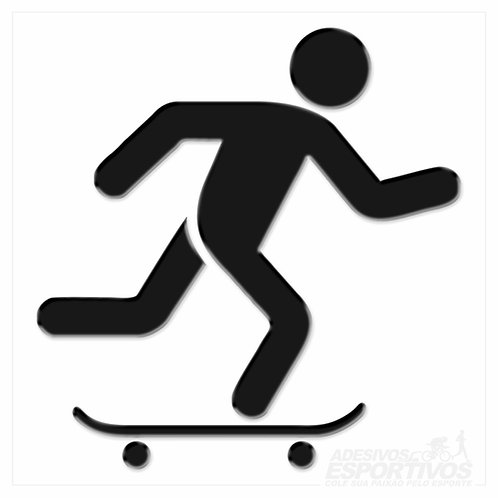 Adesivo Emblema Skate Pictograma