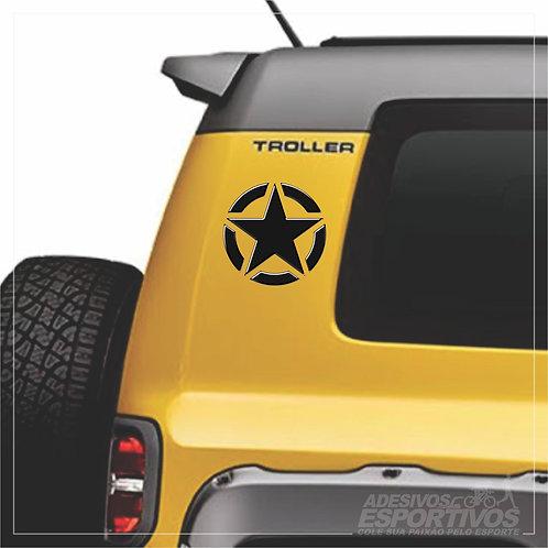 Adesivo Emblema Estrela Americana US Army Resinado 3D