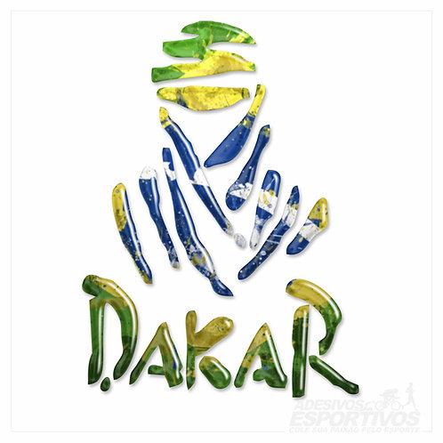 Adesivo Emblema Paris Dakar Brasil