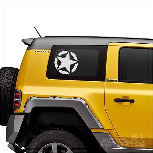 Adesivo Emblema Estrela Americana US Army - Jeep Troller/Renegade