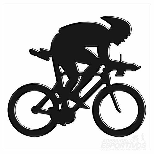 Adesivo Emblema Bike Speed Contra Relógio - Masculino