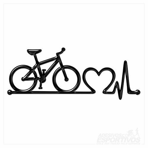 Adesivo Emblema Bike MTB Batimentos Cardíacos