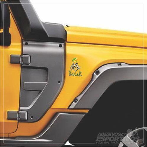 Adesivo Emblema Paris Dakar Brasil Off Road Resinado 3D
