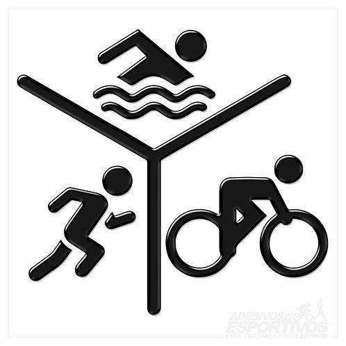 Adesivo Emblema Pictograma Triathlon