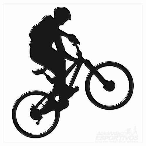 Adesivo Emblema Bike MTB Empinando