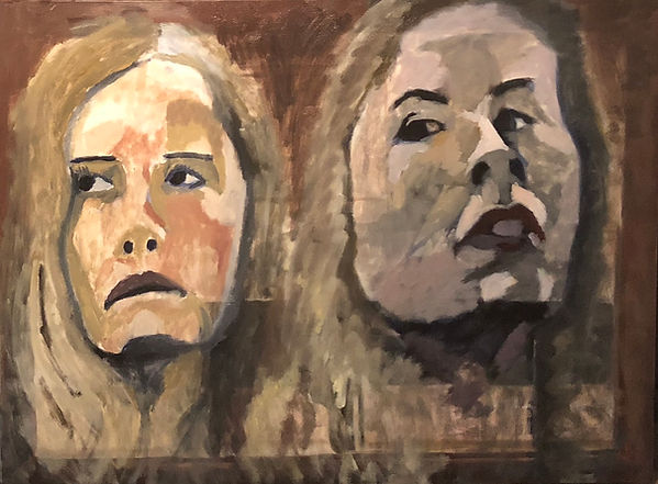 Female portrait originial oil painting by New Hampshire Artist Victoria Sager inspired by Impressionism and Expressionism