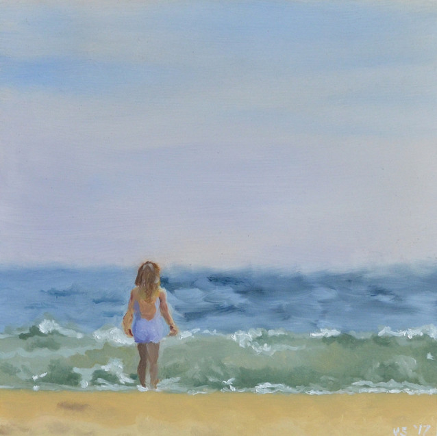 Study of Woman On The Beach