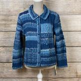 手染め手紡ぎ手編みのジャケット(St1)