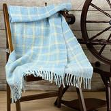 チェック柄の手染め・手紡ぎ・手織りショール(Ak1)