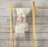 細めの手紡ぎ手織りマフラー(Ak3)