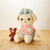手染め手紡ぎ手編みの編みぐるみ(It1)