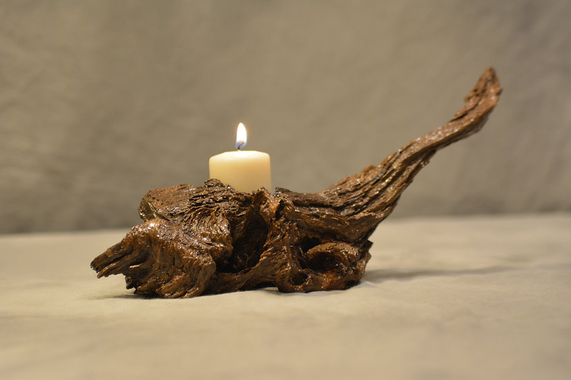 Pine Root Candle Holder