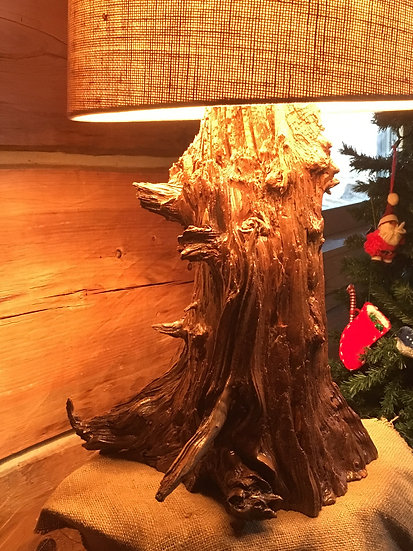 Pine Stump Lamp