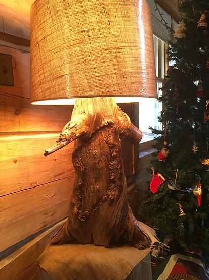 Pine Log Lamp
