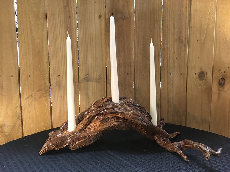 Pine Taper Candle Holder