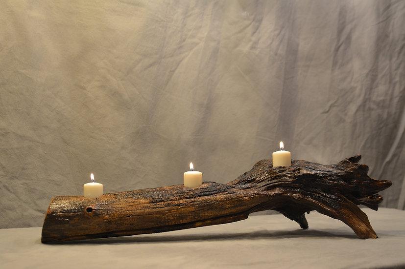 Locust Stump Candle Holder
