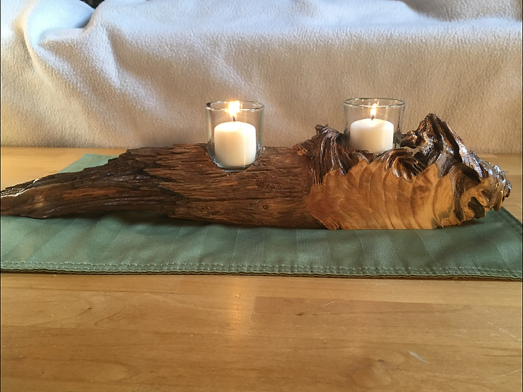 Pine Knot Candle Holder