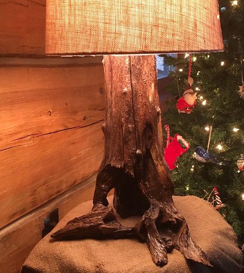 Locust Stump Lamp