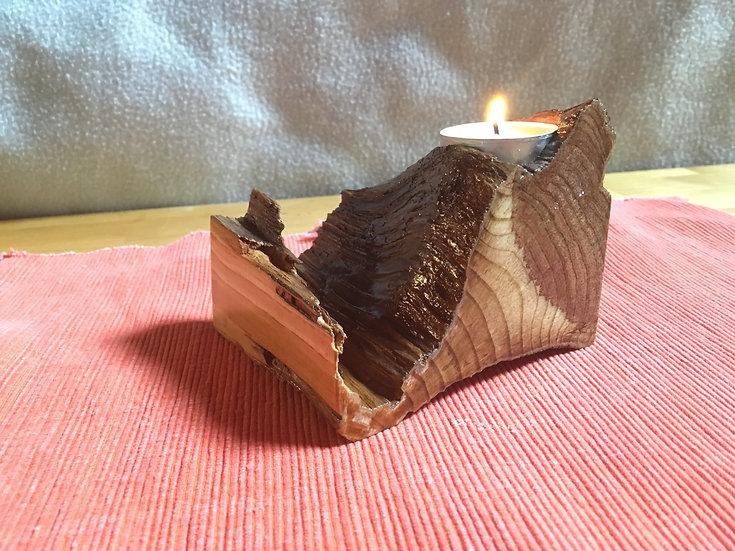 Pine Burl Candle Holder