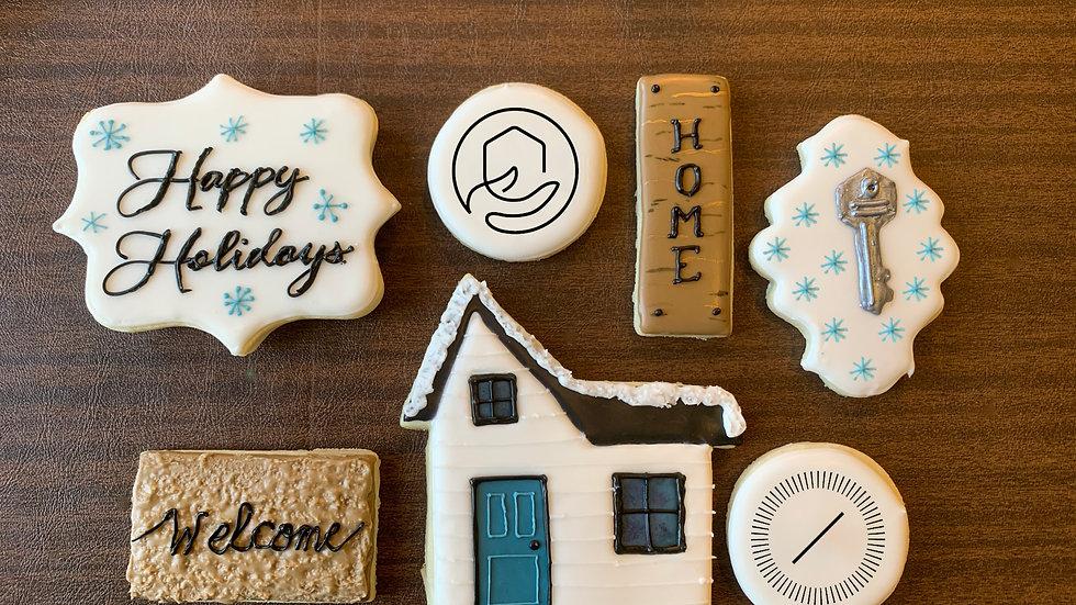 Custom Logo Cookie - Winter House Set
