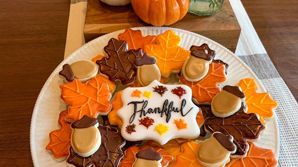 Fall Leaf Cookie Platter