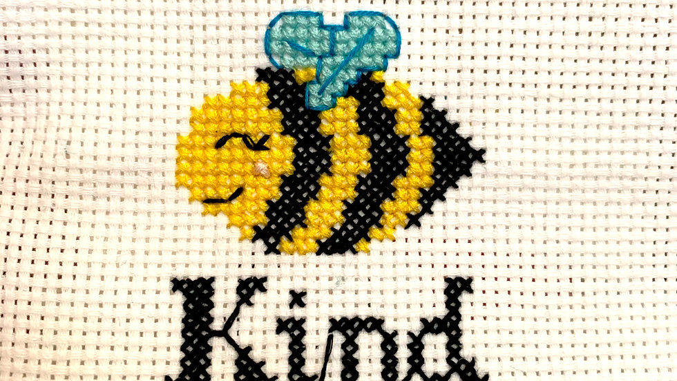 PDF Pattern: Bee Kind Counted Cross Stitch