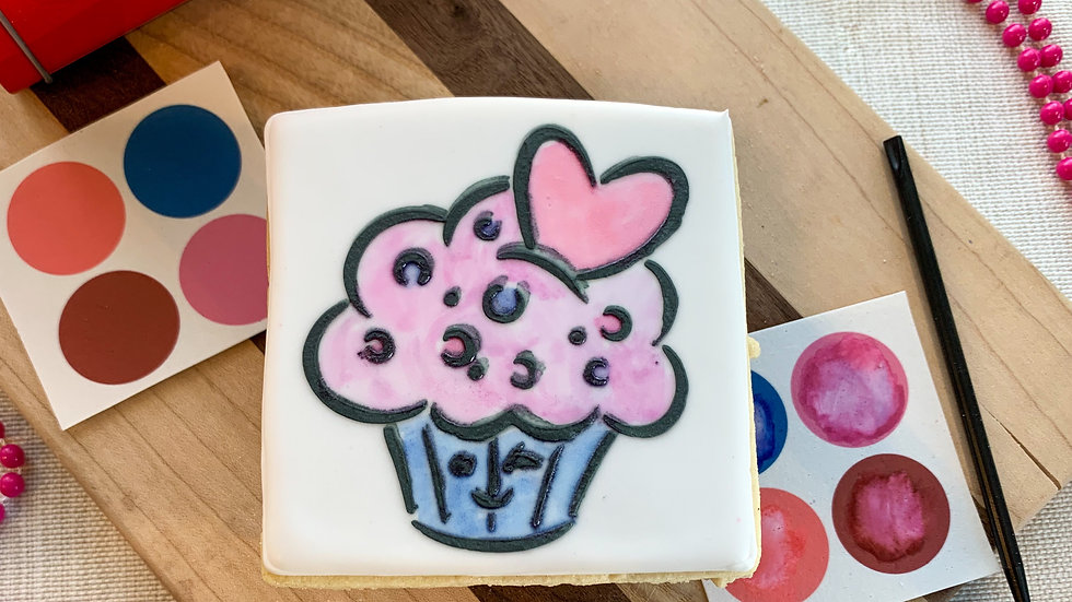 Paint Your Own Cookie - Cupcake