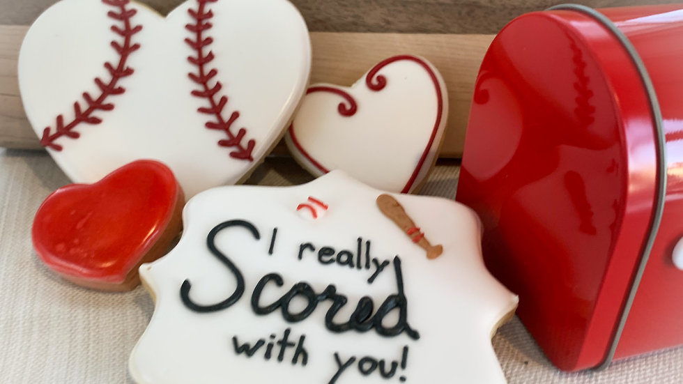I Really Scored with You! Baseball Cookie Set