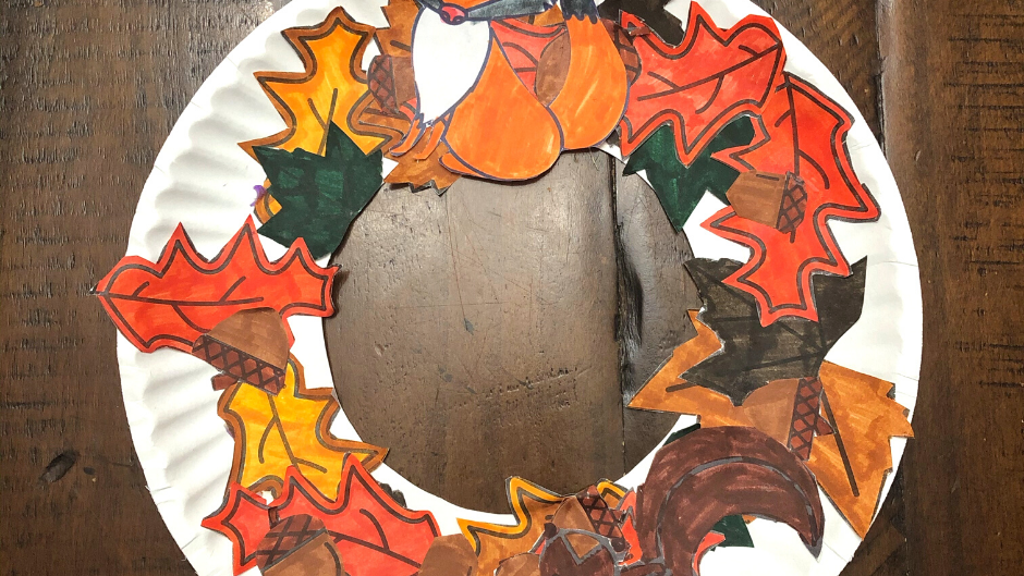 Fall Wreath Template Downloadable